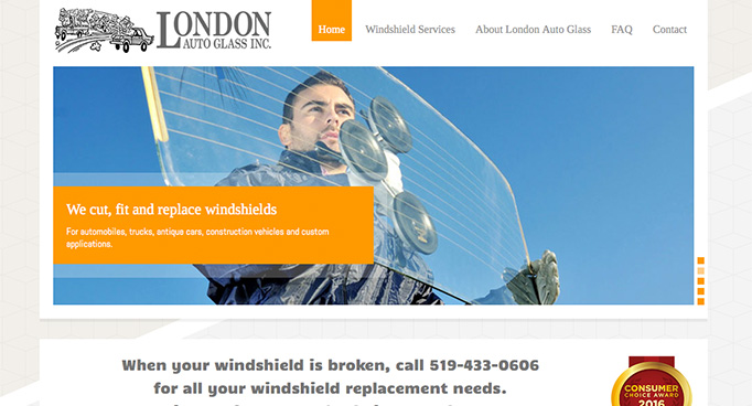 London Auto Glass website