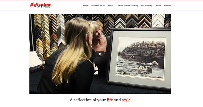 Digital Marketing for Reflections Art and Framing
