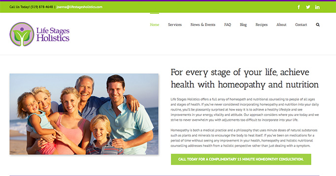 Life Stages Holistics website