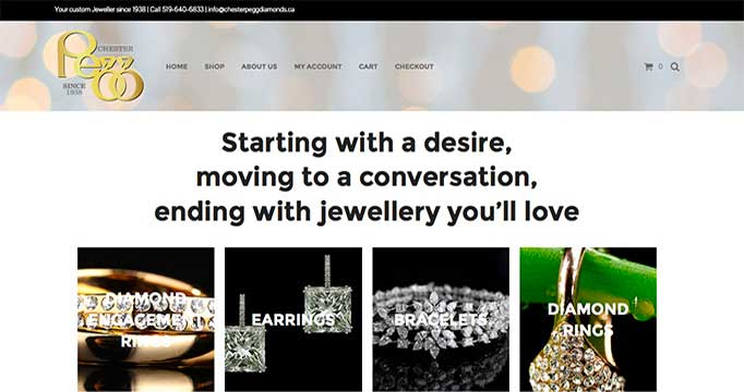Digital Marketing for Chester Pegg Diamonds