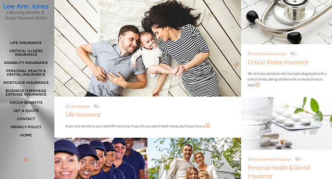 Lee Ann Jones Insurance Broker website