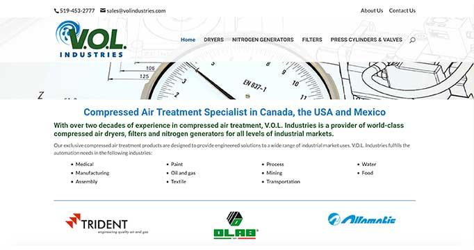 VOL Industries Website