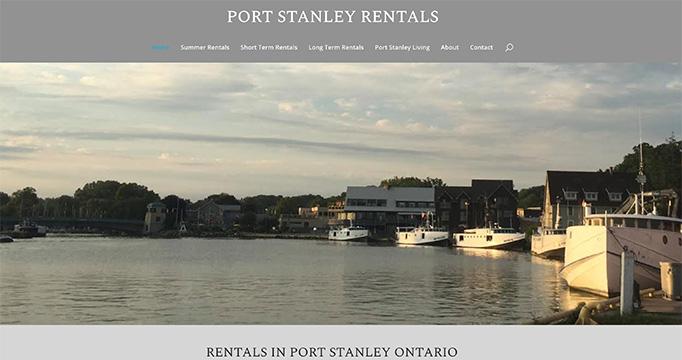 Port Stanley Rentals website design by takecareofmysite.com