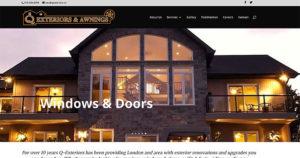Q Exteriors website design by takecareofmysite.com