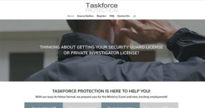 Taskforce Protection website design by takecareofmysite.com
