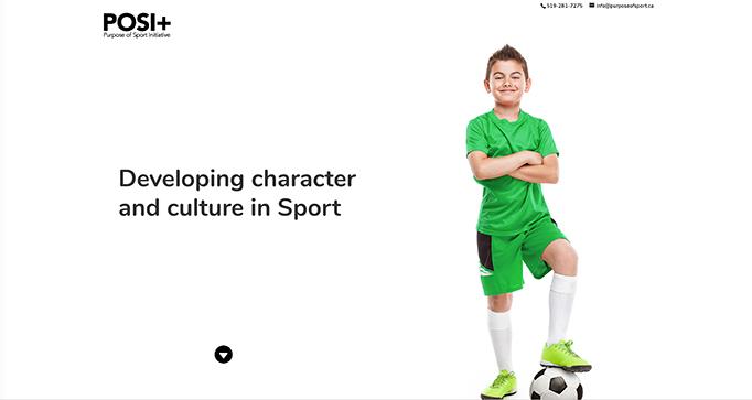 Purpose of Sport Initiative Web Design by takecareofmysite.com