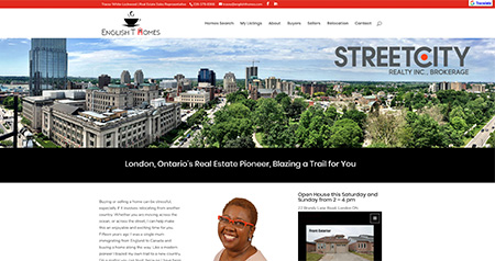 English T website design