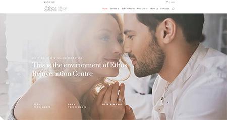 Ethos Rejuvenation Centre website design
