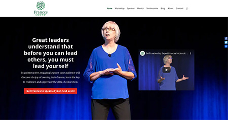Frances Found website design