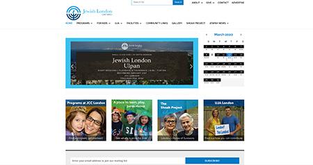 JCC London website design