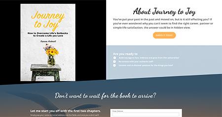 Journey to Joy website design