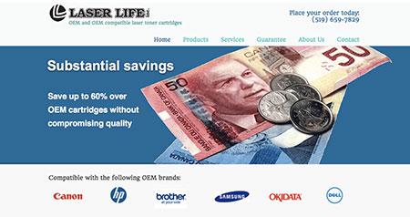 Laser Life website design
