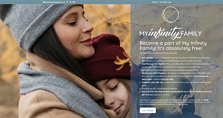 My Infinity Family website design