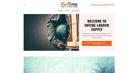 OnTime Labour Supply website design