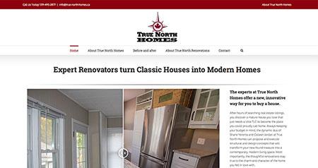 True North Homes website design