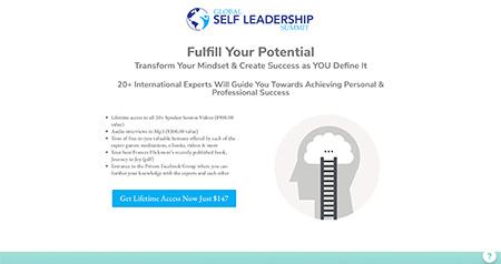 Global Self Leadership Summit website design